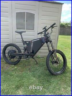 10,000 Watts 72v Electric Bicycle Ebike Mountain Bike Super Fast 55+Mph Bomber