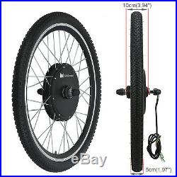 1000W Electric Bicycle Motor Conversion Kit E Bike Cycling Front Wheel LCD Meter