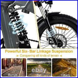 1000W Electric Folding Bike Full Suspension MaxFoot MF-19 Bicycle EBIKE 7Speeds