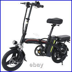 12 350W Motor Electric Bike Folding Bicycle EBike with 36V Lithium-Ion Batt
