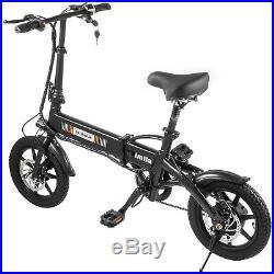 14 250W 36V Electric Bicycle Folding Ebike Bike Lithium Battery Powered