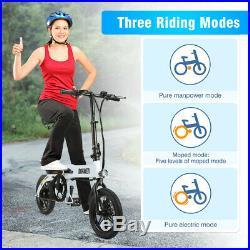 14 Folding Electric Bicycle Moped City Mountain E-Bike 250W 36V 7.5Ah Battery