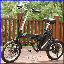 16 Electric Bike Commuter Folding City Bicycle Cycling 36V 250W LI-ION EBike US