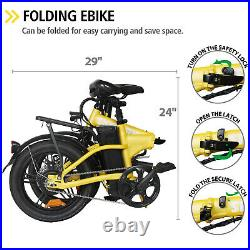 16 Folding Electric Bike for Adults 250W Ebike with 36V10AH Lithium Battery