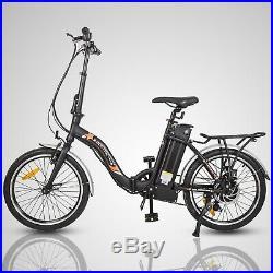 20 36V 350W Black Folding Electric Bike Bicycle E City Ebike 7 Speed Li-ion