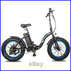 20 36V 500W Electric Fat Tire Bike Beach Bicycle City Ebike Folding 7 Speed