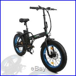 20 500W 36V 7 Speed Folding Electric Bicycle E Bike Fat Tire Lithium Battery