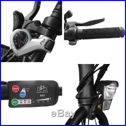 20 500W Foldable Electric Bicycle 6 Speed 2 Modes E-Bike 23MPH with 36V Battery