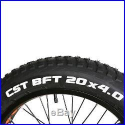 20 Electric Bike Fat Tire Mountain Bicycles 300W City E-bike Li-Battery Cycling