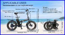 20 Folding EBike 48V 750W Electric Bike High Power Lithium-Ion Battery HOTEBIKE