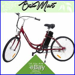 2017 YT Electric Beach Cruiser Bicycle Battery Powered E-Bike 24 v 250 w 24 in