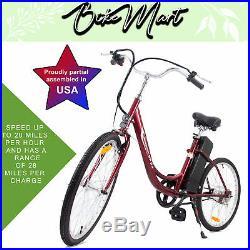 2019 Electric Bike Battery Powered E-Bike 24 inch 250 W Assembled in USA