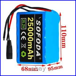 24V25AH Li-ion Battery Volt Rechargeable Bicycle 500W E Bike Electric + Charger