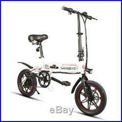 250W 14 Folding Aluminum E-Bike Electric Bicycle Mountain Bike LED with Battery