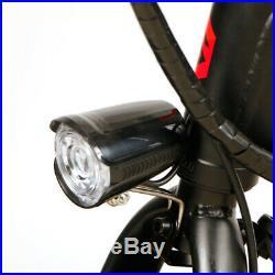 250W 36V Folding Electric Bicycle Mountain Bike E Bike Moped Headlight 14 inch