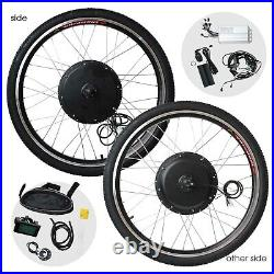 26 1000W 48V E-Bike Kit Front Wheel Electric Bicycle Motor Conversion LCD Meter
