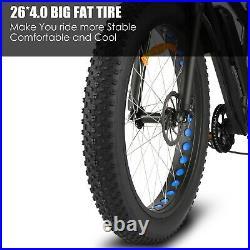 26'' 1000W / 500W Electric Bike Fat Tire Snow Beach Mountain Bicycle 48V E-Bike