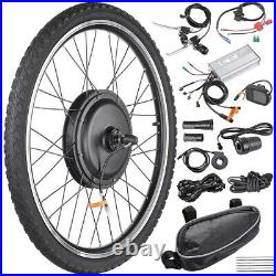26 1000W Electric Bicycle Conversion Kit Front Rear Wheel E-Bike Cycling with LCD