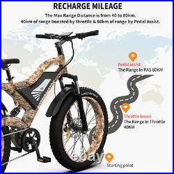 26 1500W Electric Bike 48V 15AH Removable Lithium Battery Fat Tire Ebike Adults