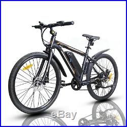 26 350W Electric Bicycle Bike Beach Mountain Ebike withRemovable Lithium Battery