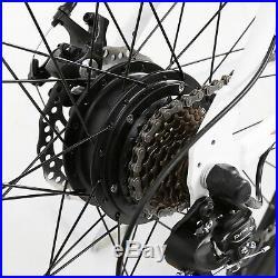 26 350W White Electric Bicycle E-Bike Mountain Sport Lithium Battery 7 Speed