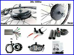 26 36V 500W Rear Wheel Electric Bicycle E-bike Kit Conversion Cycling Motor