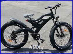 26.4 Tires 750w 48v14ah Black Electric Fat Tire Mountain Snow Bike Beach E Bike