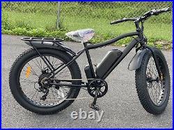 26.4 tires 750Ww 48v/11.6ah Black Electric Fat Tire Mountain Snow, Beach E-Bike