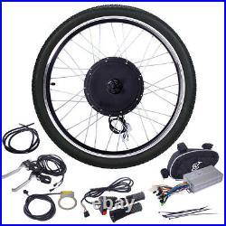 26 48V 1000W Front Electric Ebike Wheel Bicycle Motor Conversion Kit Motor Hub