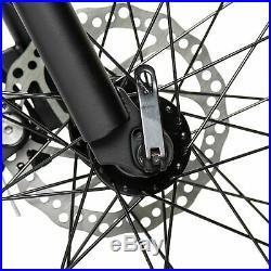 26 500W 36V Black Electric Fat Tire Mountain Snow Bicycle Beach E Bike LCD
