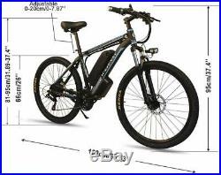 26''500With350W 36V Electric Snow Mountain E-Bike Bicycle 21Speed SHIMANO Fat Tire