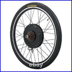 26 Electric Bicycle Rear Wheel 48V 1000W Ebike Hub Motor Conversion Kit