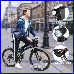 26 Electric Bike E-Bike Folding Mountain Bicycle Cycling 36V Shimano 21 Speed