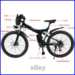 26'' Electric Bike E-bike Mountain Bicycles City Folding Cycling 21 Speed 250W