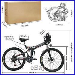 26'' Electric Bike E-bike Mountain Bicycles City Folding Cycling 21 Speed 350W