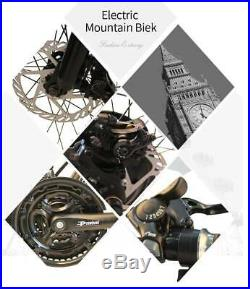 26'' Electric Bike Folding E-Bike Adult Mountain Bicycle 36V 21Speed 350W Gift