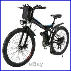 26 Electric Bike Folding Ebike Mountain City Bicycle With 36V Lithium Battery USA