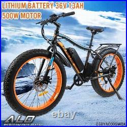 26''Electric Mountain Bike Bicycle Shimano 36V Lithium Battery 500W E-Bike