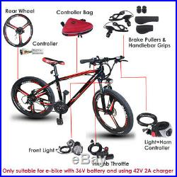 26'' Electric Rear Wheel Conversion Kit 36V 300W Ebike Cycling Bicycle Hub Motor