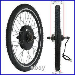 26 Rear Wheel 36V 500W Electric Bicycle Ebike Conversion Kit Hub Motor