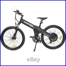 26 black electric Bicycle eBike 36V lithium battery 500W 7 speed Pedal assist