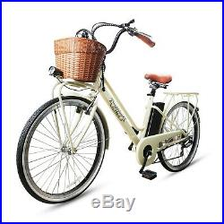 26City Electric Bicycle with Basket 36V Classic Adult Lithium Battery E-Bike