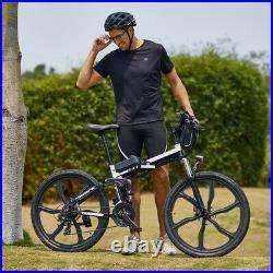 26Inch Electric Bike Folding Mountain Bicycle Adult Ebike Shimano 21-Speed Bikes