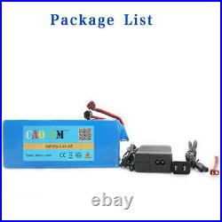 36V 10Ah Lithium Battery Pack 750W ebike E Bicycle battery Charger Rechargeable