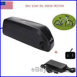 36V 10Ah Lithium E-Bike Battery Pack with Charger Fit 500W Electric Bicycle Bike
