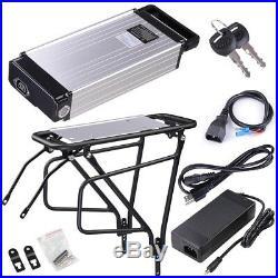 36V 14AH Lithium Battery Rear Rack Li-ion For Electric Bicycle E bike Motor Kit