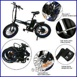 36V 500W 13Ah LED Display EBike 20 Folding Fat Tire Electric Bicycle