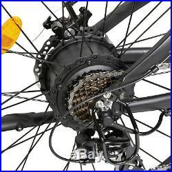 36V 500W Black/Blue Electric Fat Tire Bike Beach Bicycle City E-bike LCD Display