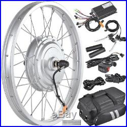 36V 750W 20 Front Wheel Tire Electric Bicycle eBike Conversion Kit withMotor
