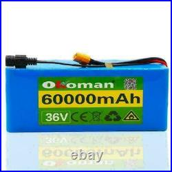 36v 60ah E-bike Li-ion Battery Volt Rechargeable Bicycle 500w Electric + Charge